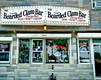Bar Photo - Ocean City, Maryland - Beer, Wine, Liquor, Bearded Clam, Drinking, Home and Condo Decor, Wall Art, bar decor, gifts for men