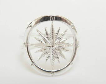 Sailor Compass Ring Sterling Silver - Compass jewelry - Nautical Jewelry*