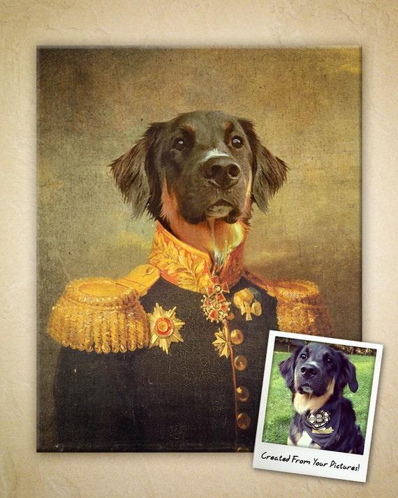 Custom Vintage Regal Pet Portrait Digital File Only Etsy