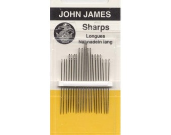4-Pack 1 Pack Colonial Needle JJ60400 Curved Quilting Hand Needles