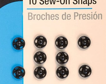 """6 Set 1//2/"""" 13mm Sew-on Snap Fasteners in Silver size"""