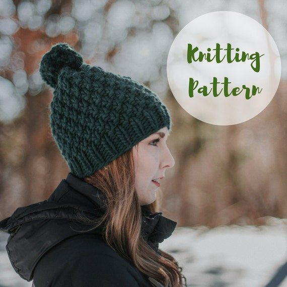 KNITTING PATTERN     The Linden Hat     Super Chunky Knit Hat  58f511c8076