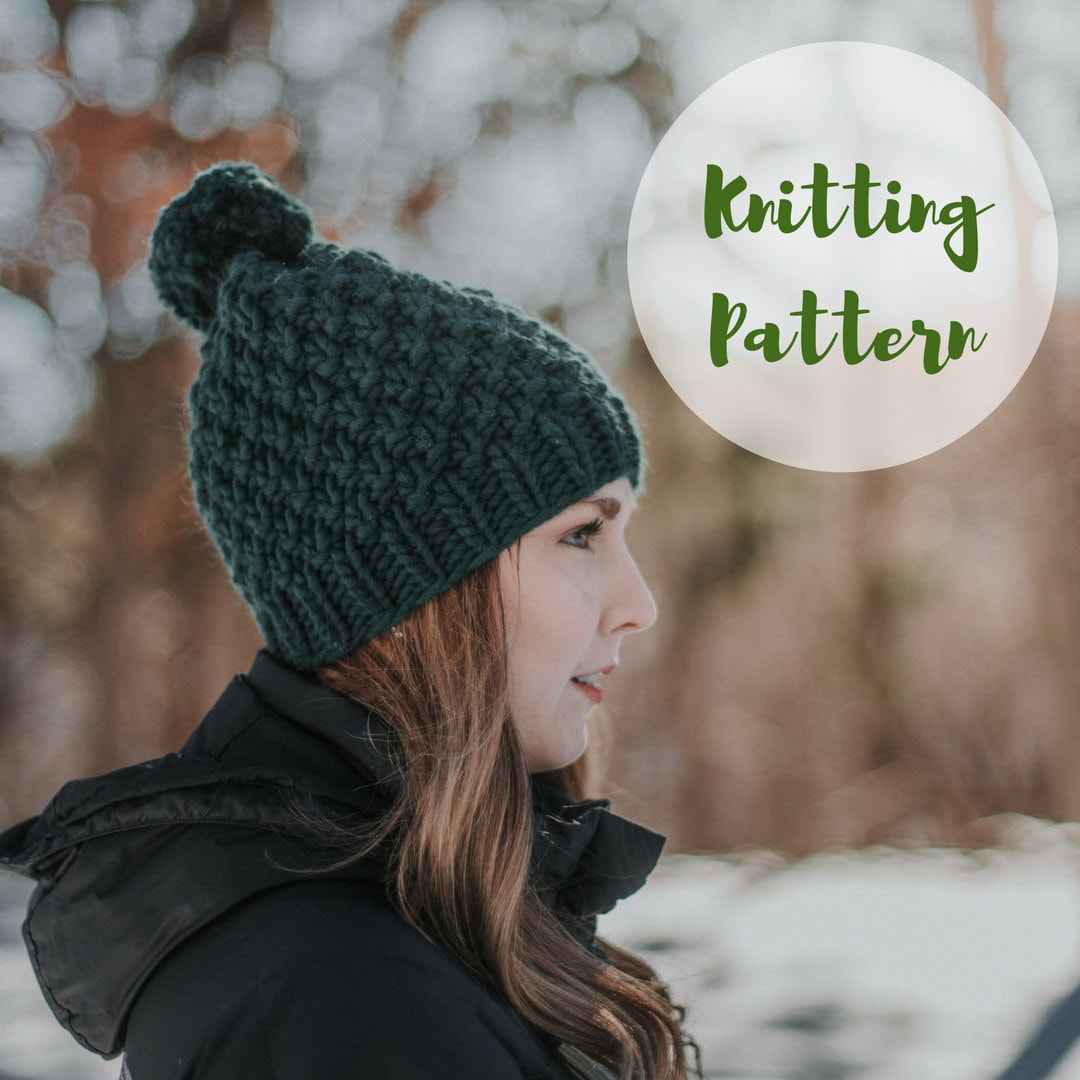 KNITTING PATTERN     The Linden Hat     Super Chunky Knit Hat  40635a8db56