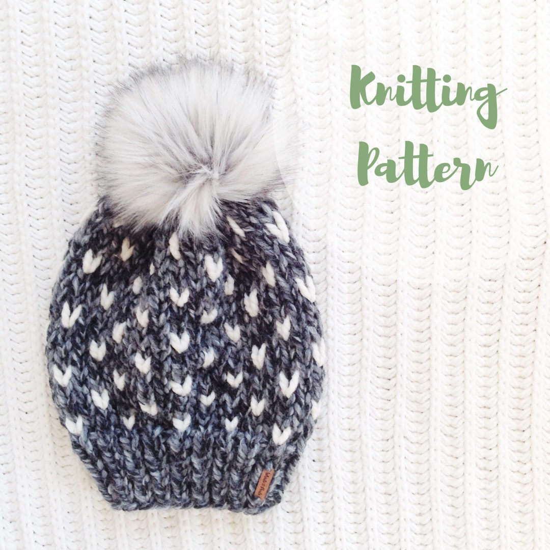 KNITTING PATTERN / / The Minnehaha Hat / / Fair Isle Knitting | Etsy
