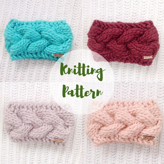 Knitting Pattern The Braided Crown Cable Knit Headband Etsy