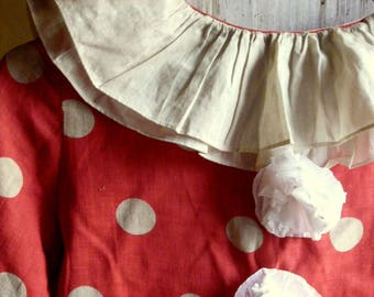 lovely antique vintage large child clown costume