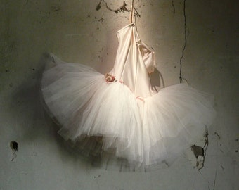 vintage dusty pink ballet tutu costume