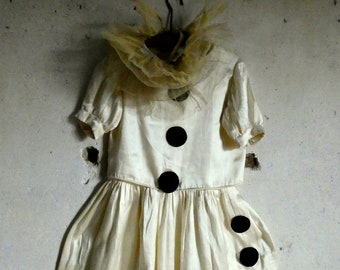 c9bd02dea4a2 RESERVED FOR VAL vintage antique french pierrot pierrette colombine costume  dress