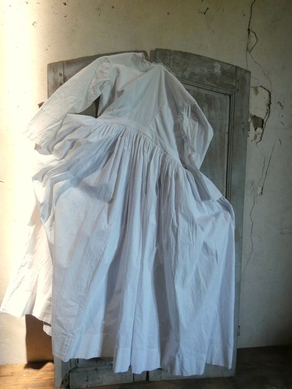 antique french early white cotton dress - image 10