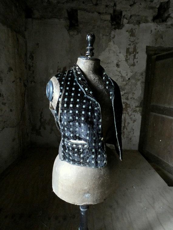 antique french velvet waist coat waistcoat vest