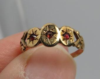 Vintage 14k Ruby Baby Ring Pinky Midi Ring Band sz 1.75.