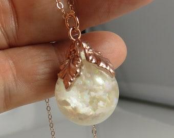 9.69mm globe. Vintage Sterling Silver Floating Opal  Onyx Pendant Necklace