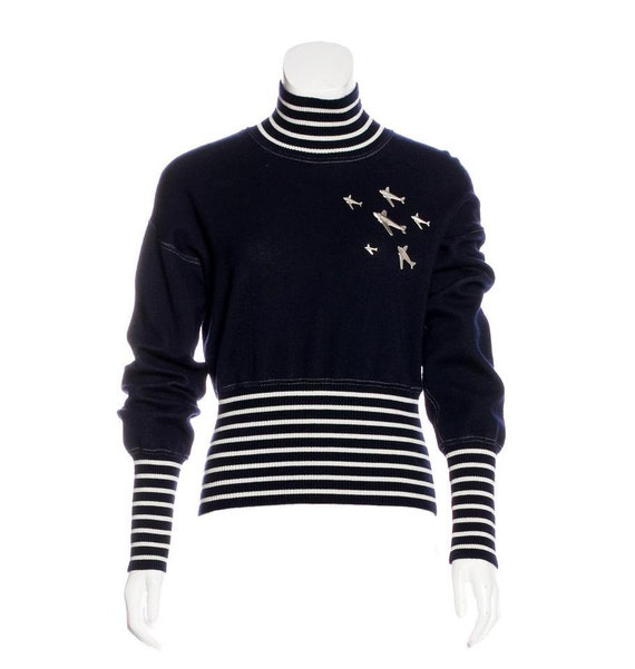 Chanel Airplane Cruise Collection Sweater Sz 38. R