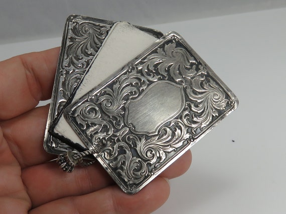 Victorian Ornate Sterling Silver Chatelaine Notebo