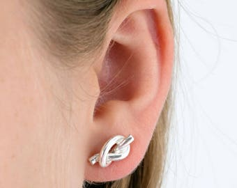 Friendship Knot Sterling Silver Studs