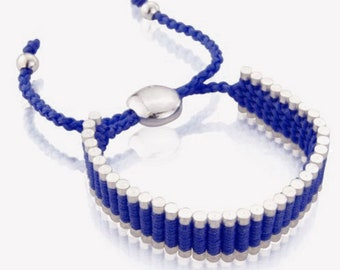Links of London Inspired solid colour Bracelet, Faux Links of London, friendship Gift, Adjustable Bracelet,Gift for Her,Gift For Him