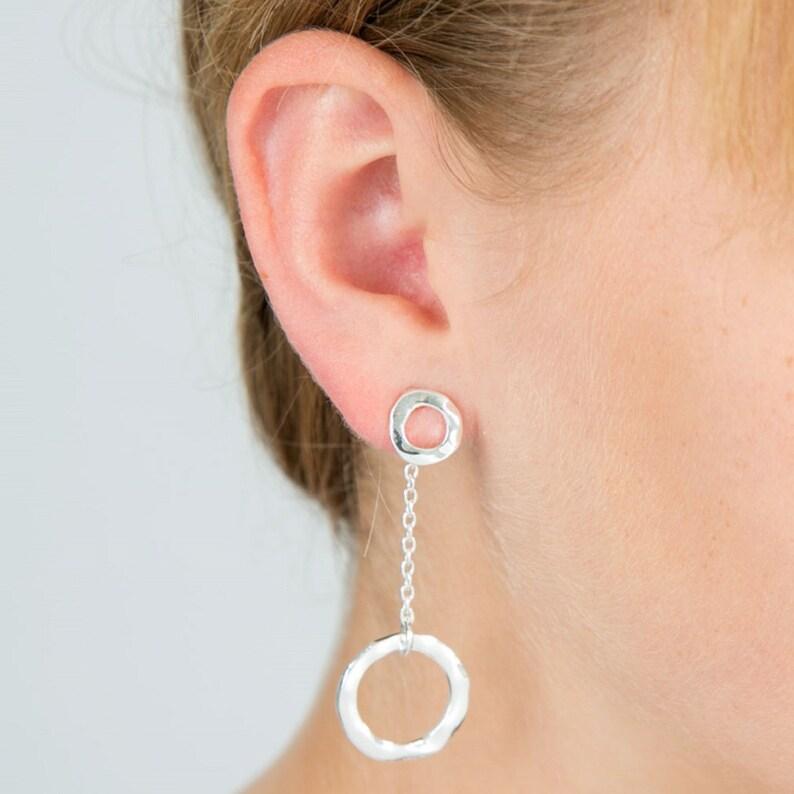 Circle Two Way Earrings