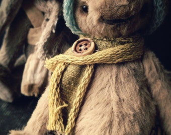 Artist teddy Bunny Pattern  -with ears 11inch  by Medveduska