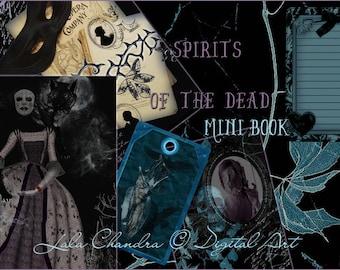 Spirits of the Dead Gothic art Mini book INSTANT DOWNLOAD digital journal kit vampire printable