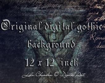 Original digital gothic background INSTANT DOWNLOAD scrapbook printable decoupage paper