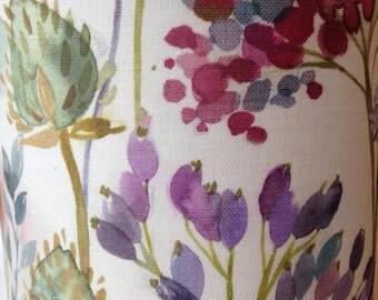 Handmade Fabric Lampshade in Voyage's Hedgerow fabric. In 20cm, 30cm or 40cm diameter