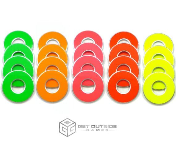 Mélanger 4 neon VVashers™ - rondelle / rondelles jeu de rondelle de sortir des jeux