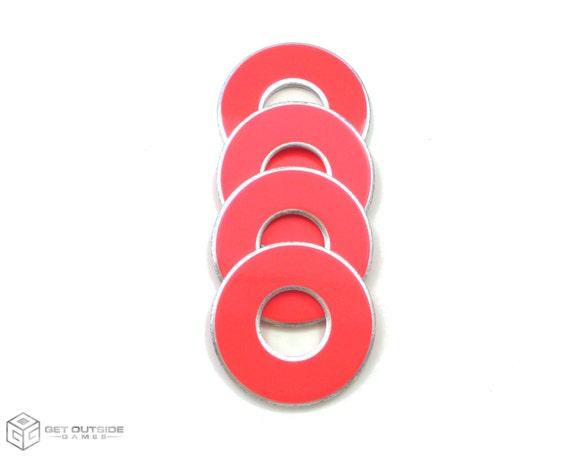 Mélanger les 4 rose fluo VVashers™ - rondelle / rondelles jeu de rondelle de sortir des jeux