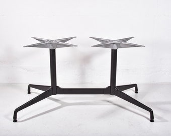 Vintage Mid Century Modern Herman Miller Dining Room Table Eames Aluminum  Group Segmented Dining Conference Table Office Desk Base