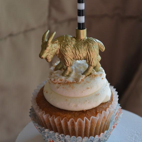 Mountain Goat Animal Birthday Candle Holder