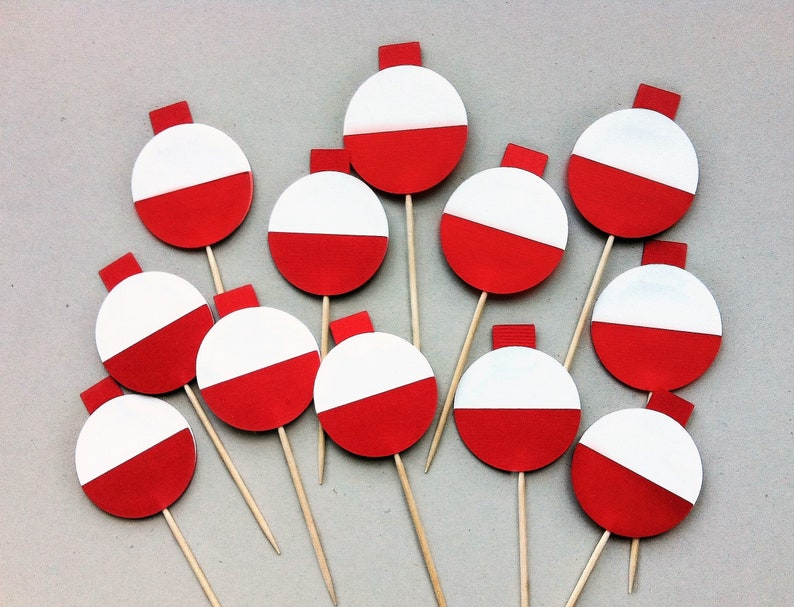 Bobber Cupcake Toppers Fishing Birthday Package Fishing Garland Fishing Party Ofishally One Birthday One Cake Topper The Big One