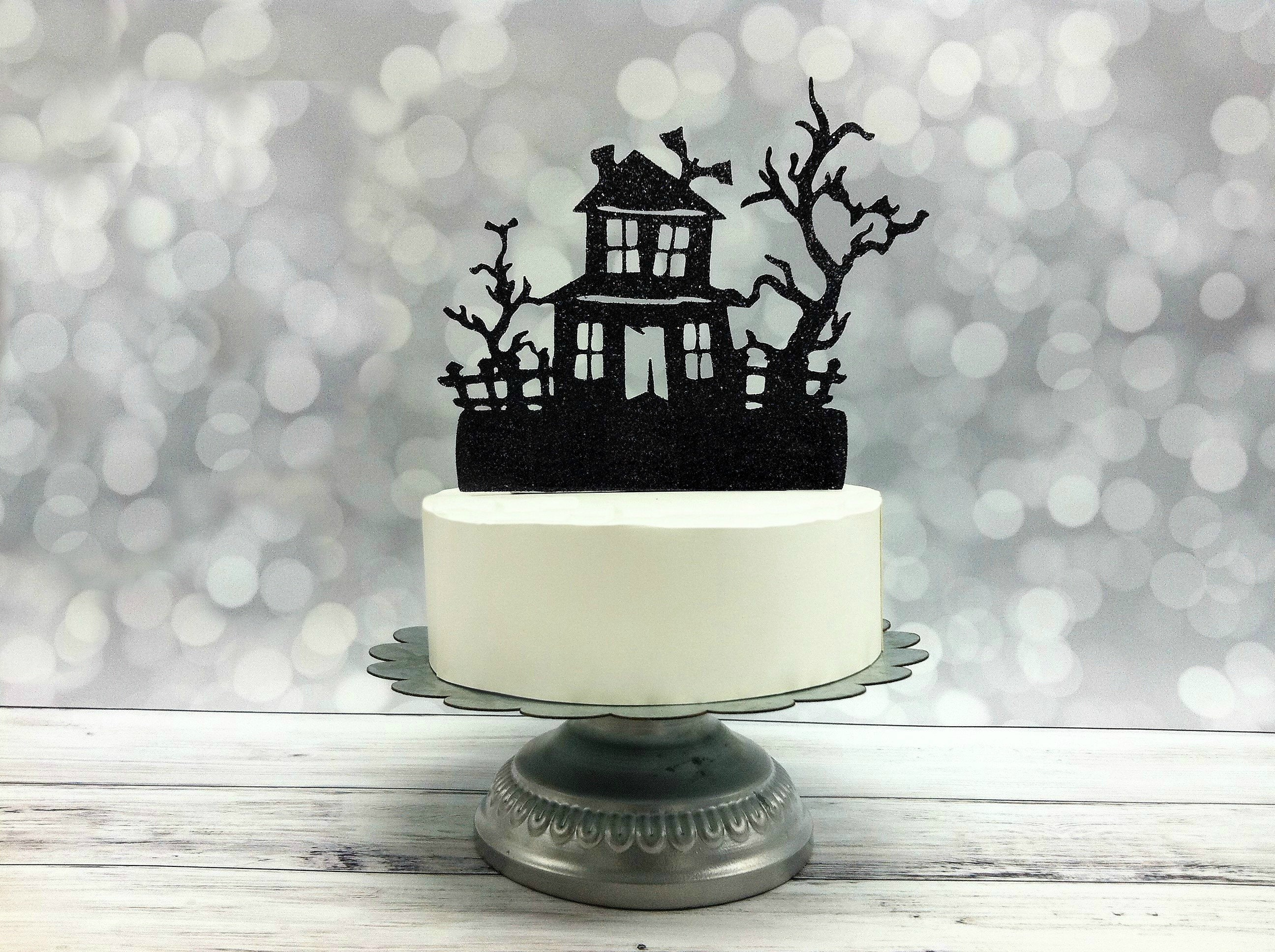 Phenomenal Haunted House Topper Halloween Cake Topper Spooky Etsy Personalised Birthday Cards Epsylily Jamesorg