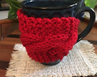Berry  Cable Knit Cozy Cup