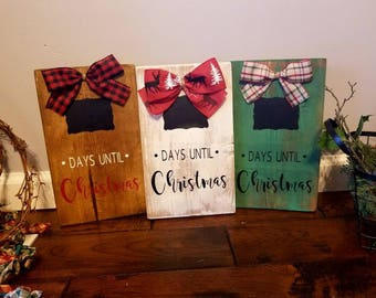 Christmas countdown sign. 12x8in chalkboard Christmas countdown.