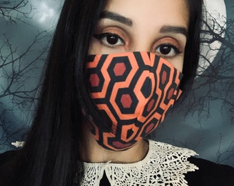 The Shining adult face mask/covering, adjustable ear loops face mask, spooky face mask, Halloween face mask, horror movie face mask, unisex