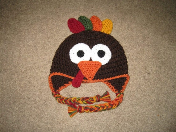 Crochet Turkey Hat Pattern Only All Sizes Etsy