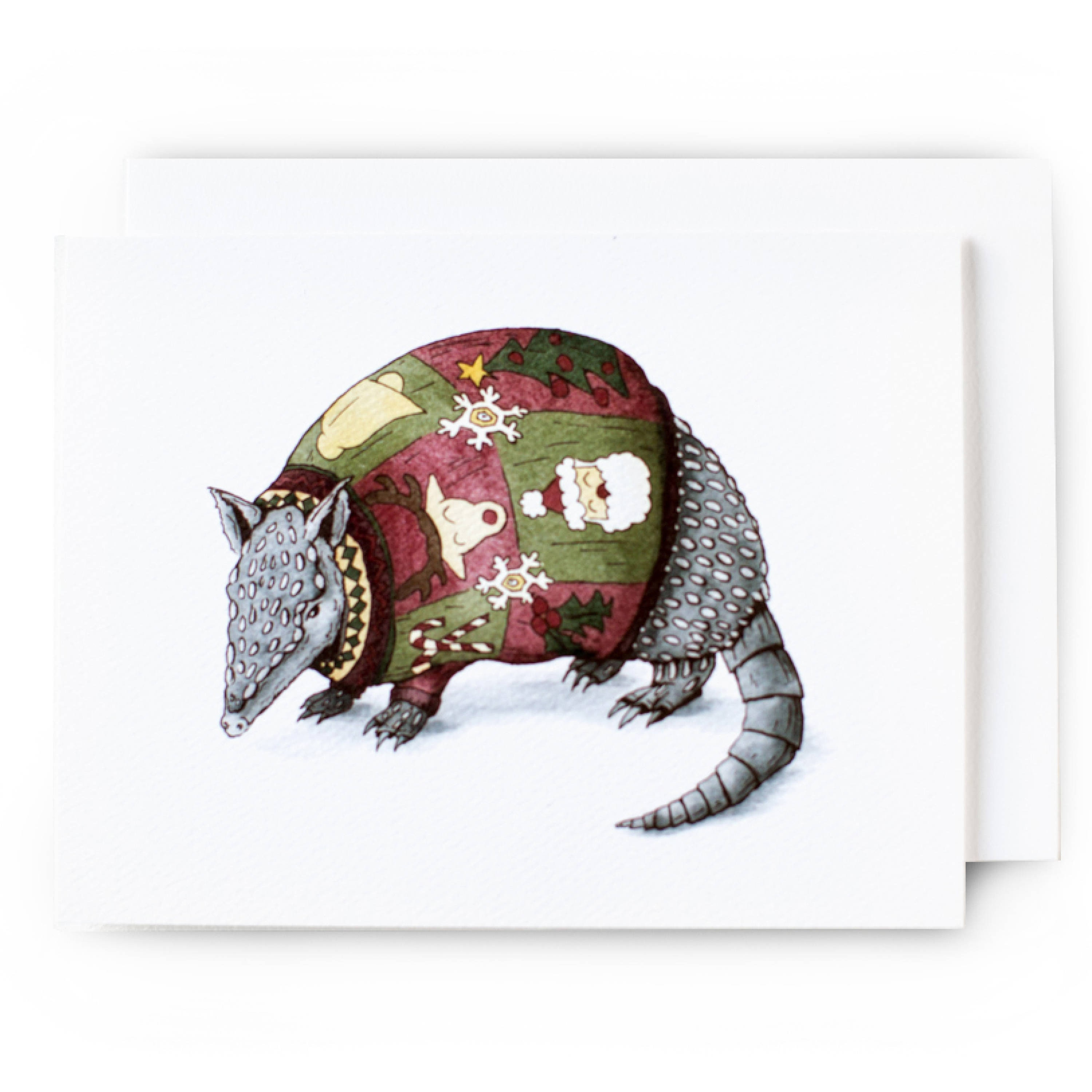 Texas Christmas Card Armadillo in an Ugly Christmas Sweater | Etsy