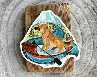 Paddle Board Pup Sticker | Premium Die Cut Vinyl Stickers | For Laptops, Water Bottles, Hydroflasks, Car Bumpers, Planners, etc.