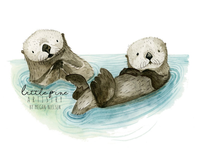 Sea Otters Print