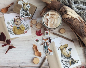 SPECIAL - Falling for Fall Sticker and Card Collection Pack | Woodland Animals