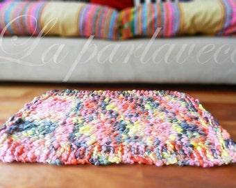 Wool Area Rug, Handmade Rug, Knit Rug, Bedroom Rug, Bedside Rug Living Room Throw Rug, Chunky Knit Super Bulky, Country Rug / ADELFA Rug