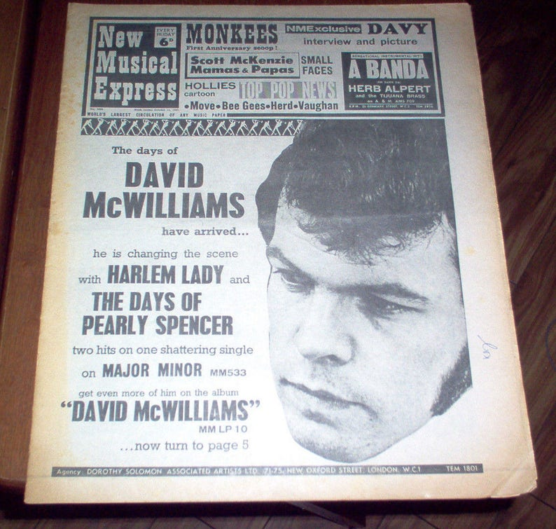 NME New Musical Express Magazine 1967 Jimi Hendrix The Move Kinks Small  Faces UK Vintage Classic Rock & Roll Music Collectible
