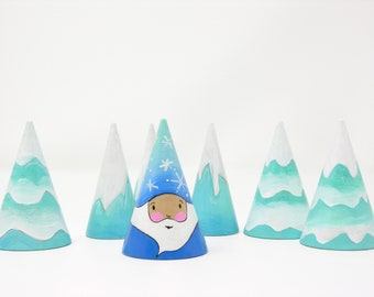 Winter Jack Frost Gnome, King Winter, winter toy, winter decoration, seasonal toy, handmade kids toy, nature table, kids christmas