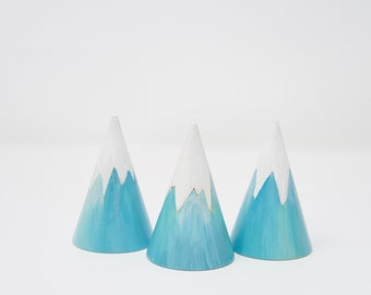 Ice Mountain- cone shape, winter mountain, wooden ice mountain, wooden iceberg, handmade toy, winter themed toy, winter decoration