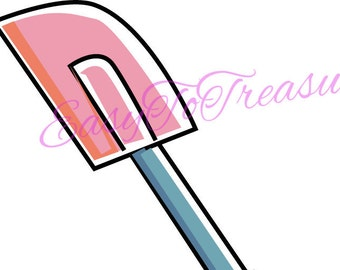Digital Download Clipart – Baking Cooking Spatula JPEG and PNG files