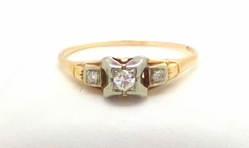 Antique Edwardian .16ct VS2 Euro Cut Diamond Engagement Ring