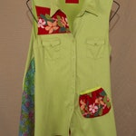 XL tunic top, comfortable and fun, urban chic, refashioned, one of a kind,colorful