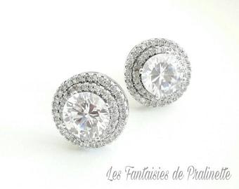 Bridal Crystal Earrings, studs earrings, Crystal bridal earrings, wedding crystal earrings, bridal jewelry, Bridesmaids earrings jewelry
