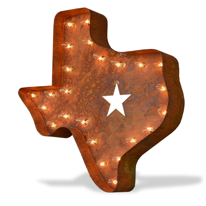 Iconics Marquee Light Texas Lonestar Etsy