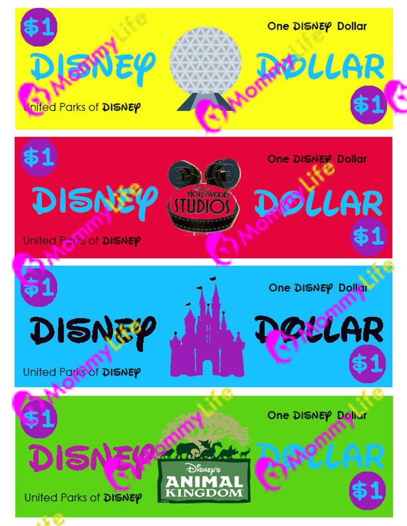 photo regarding Disney Dollars Printable referred to as Disney Cash- Printable record 8.5x11 4 Disney Money