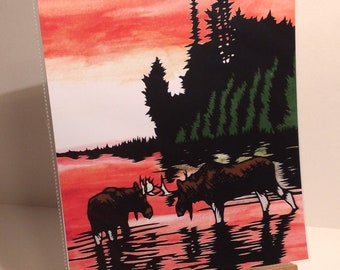 Evening Moose Print
